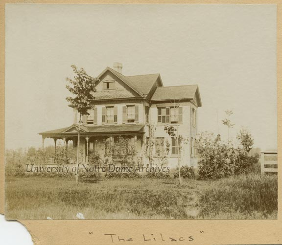 """The Lilacs"" - Home of Professor Maurice Francis Egan at 1136 N. Notre Dame Avenue, c1890s"