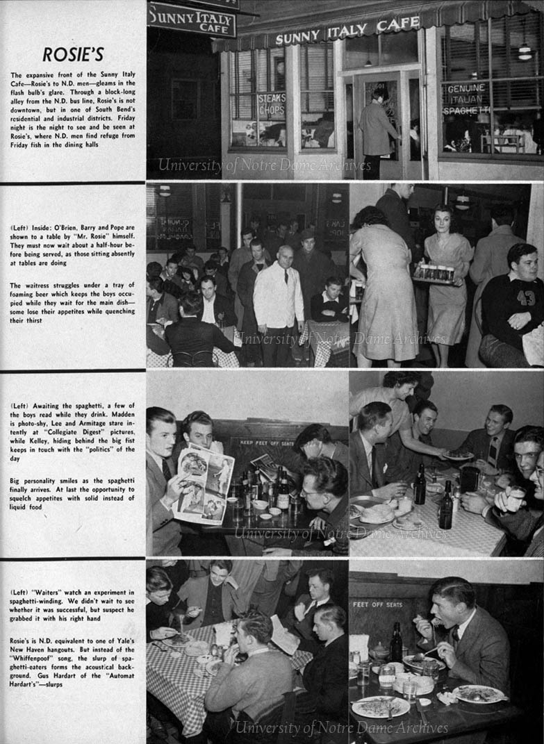 Dome yearbook 1941:  Feature on a typical Friday night at Rosie's