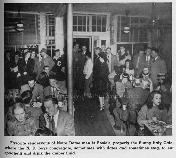 People dining at Rosie's Sunny Italy Cafe restaurant, 1946.