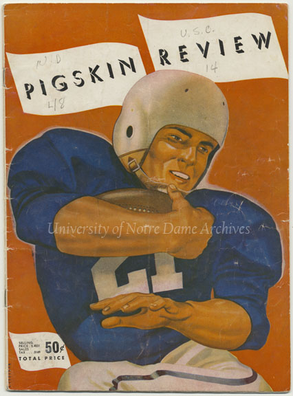 Football Program Cover:  Notre Dame vs. Southern California (USC), 1953/1128.