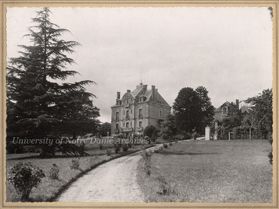 Chateau de la Roche - Birthplace of Rev. Edward Sorin, CSC, in Ahuille, France, 1939/0715.