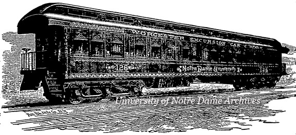 "The New Hotel Car ""Notre Dame University,"" 1885"
