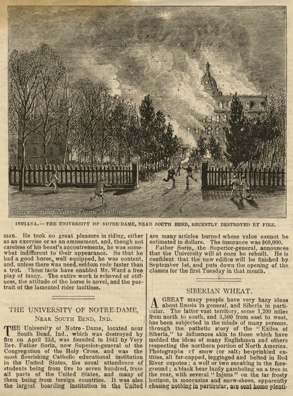 Feature of the Second Main Building fire published in Frank Leslie's Illustrated Newspaper, May 24, 1879