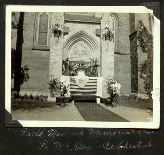 GNDS 5/11: Mass at the Basilica of the Sacred Heart World War I (WWI) Memorial Door, 1925.